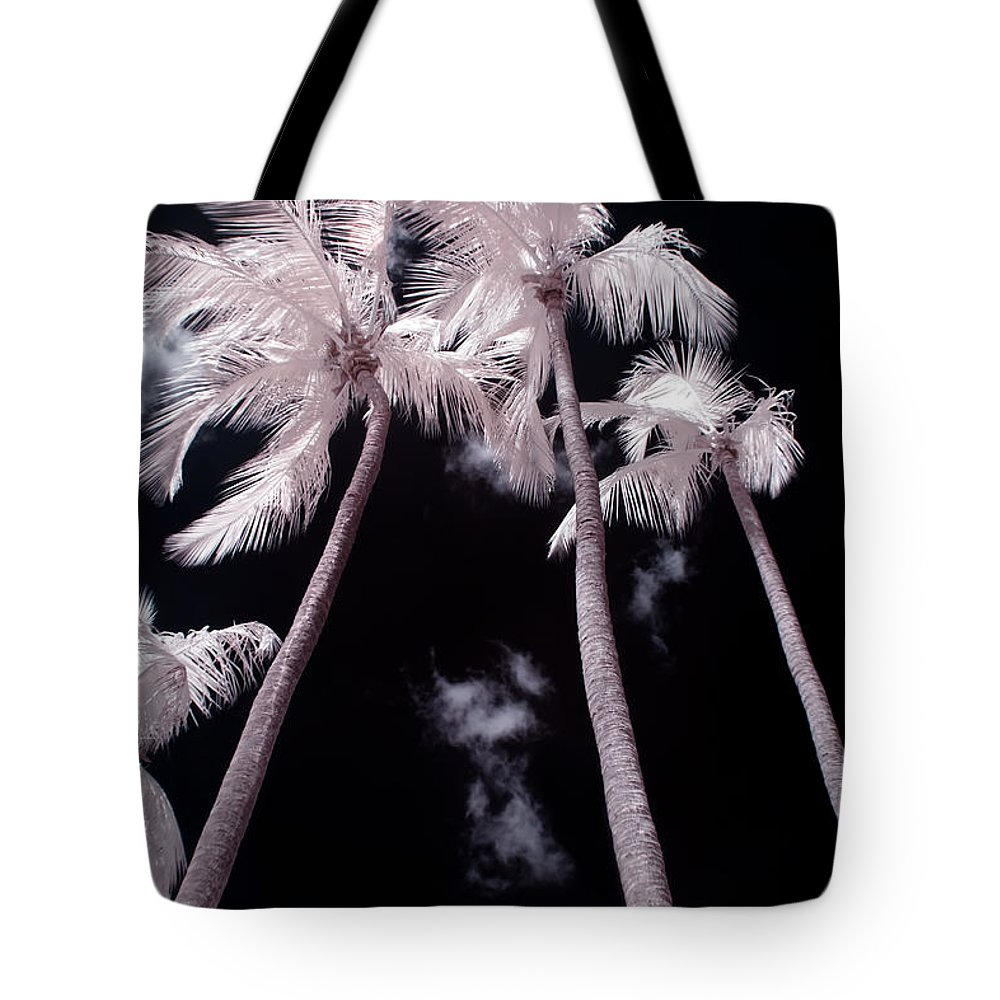 3scape Photos Tote Bag featuring the photograph Infrared Palm Trees by Adam Romanowicz