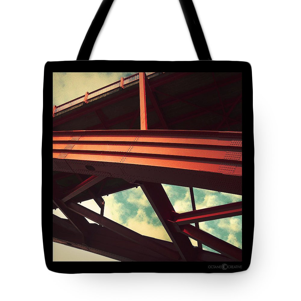 Bridge Tote Bag featuring the photograph Infrastructure by Tim Nyberg