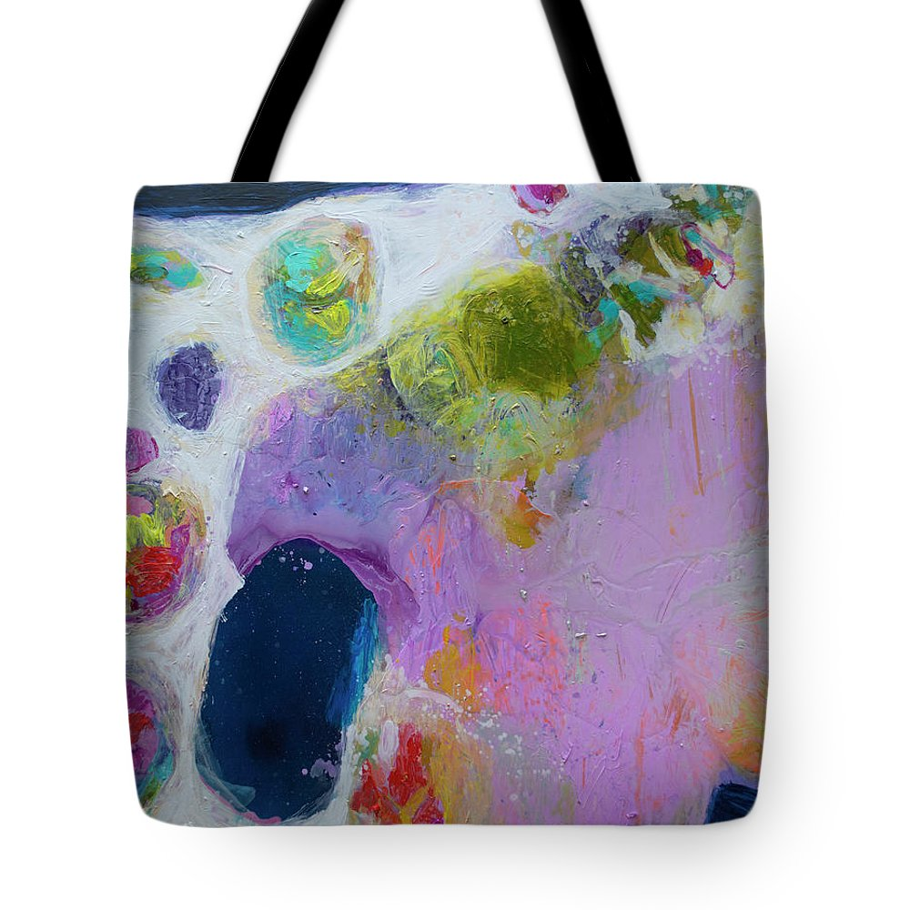 Abstract Tote Bag featuring the painting Inherent by Claire Desjardins