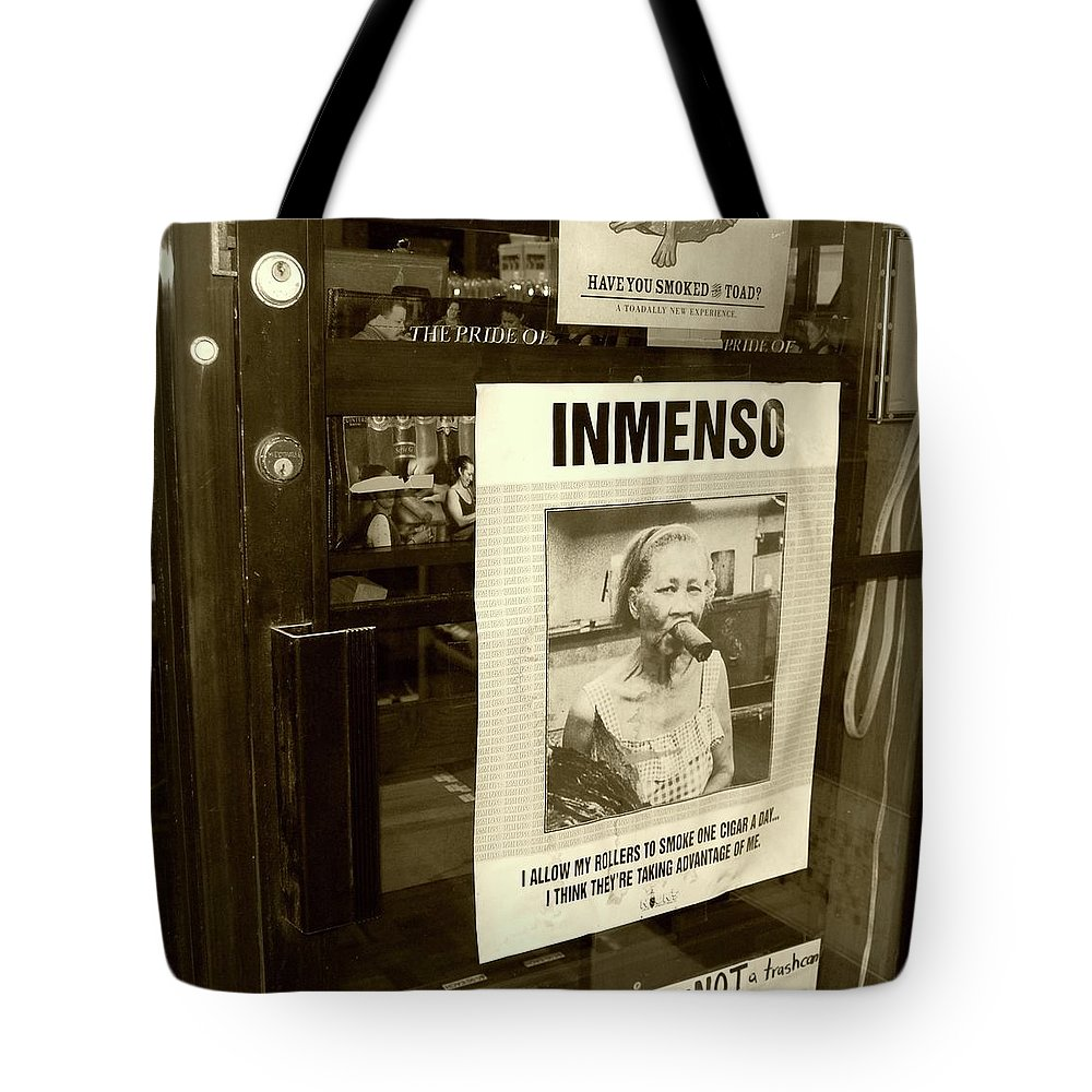 Cigar Tote Bag featuring the photograph Inmenso Cohiba by Debbi Granruth
