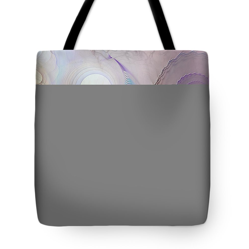 Abstract Tote Bag featuring the digital art Inner Conversations by Casey Kotas