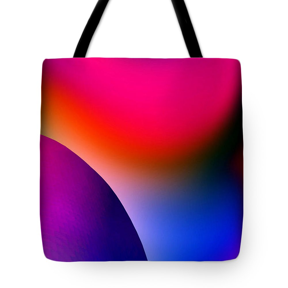 Color Tote Bag featuring the painting Inner Cosmos 2 Red I Contemporary Digital Art by G Linsenmayer