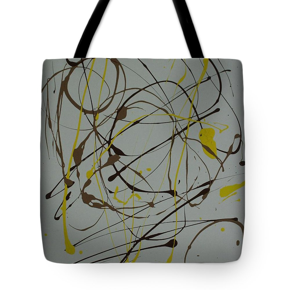 Spiritual Tote Bag featuring the painting Inner G by Sonye Locksmith