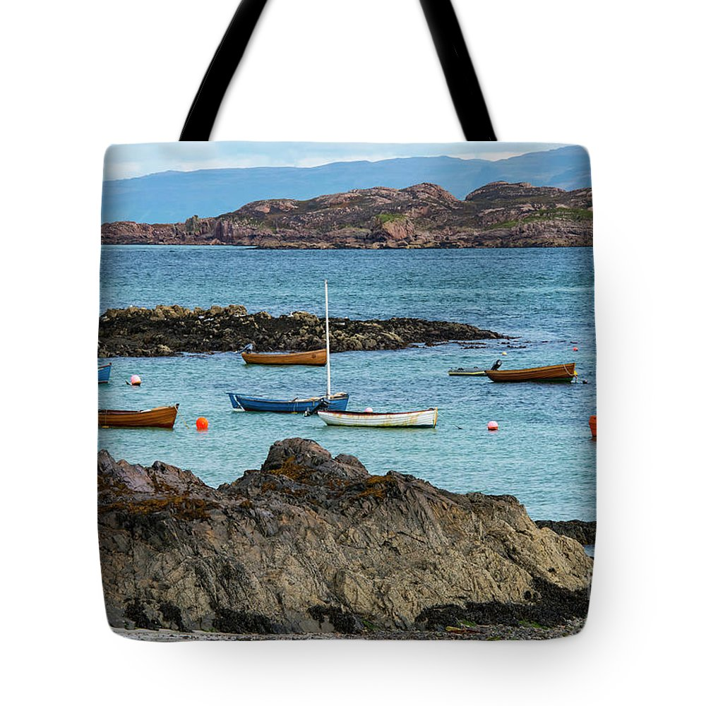 Isle Of Iona Tote Bag featuring the photograph Inner Hebrides Transportaion by Bob Phillips