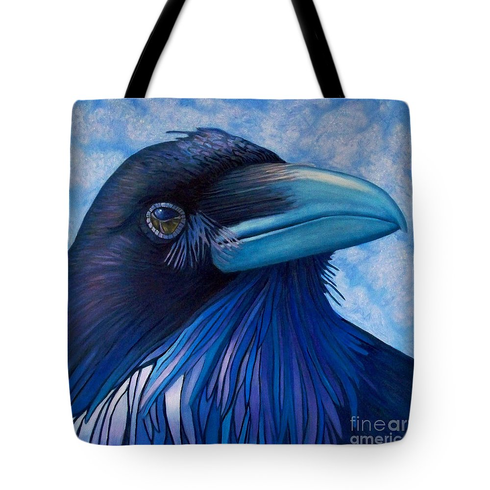 Raven Tote Bag featuring the painting Inner Knowing by Brian Commerford