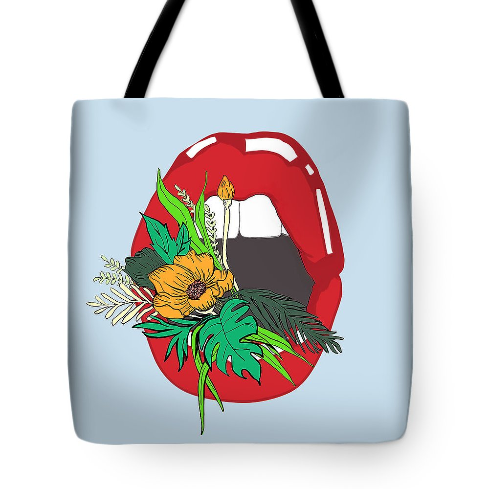 Floral Tote Bag featuring the digital art Inner Oasis by Brittany Everette