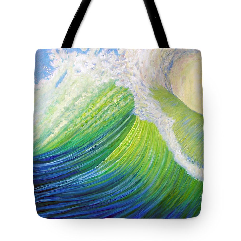 Ocean Tote Bag featuring the painting Inner Ocean - Exaltation by Brian Commerford