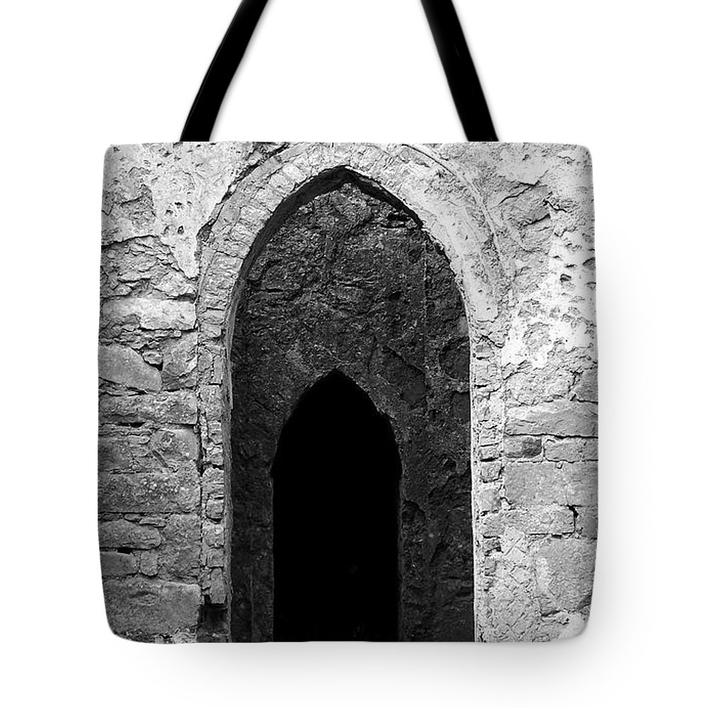 Ireland Tote Bag featuring the photograph Inner Sanctum Fuerty Church Roscommon Ireland by Teresa Mucha