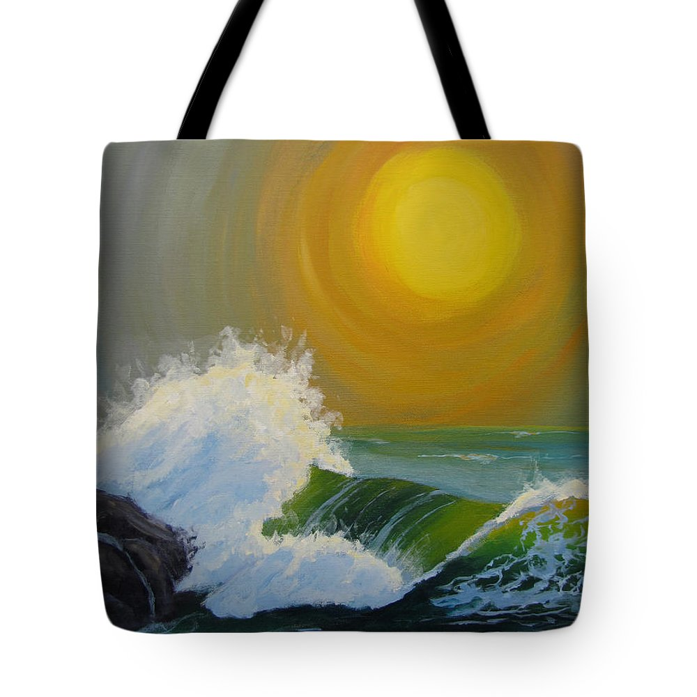 Sea Tote Bag featuring the painting Inner Tide by Karen Ilari