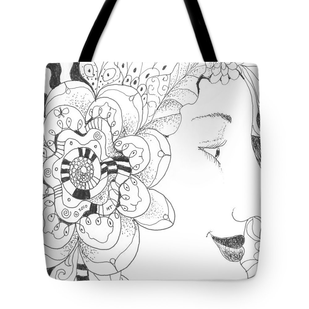 Life Tote Bag featuring the drawing Innocence And Experience by Helena Tiainen