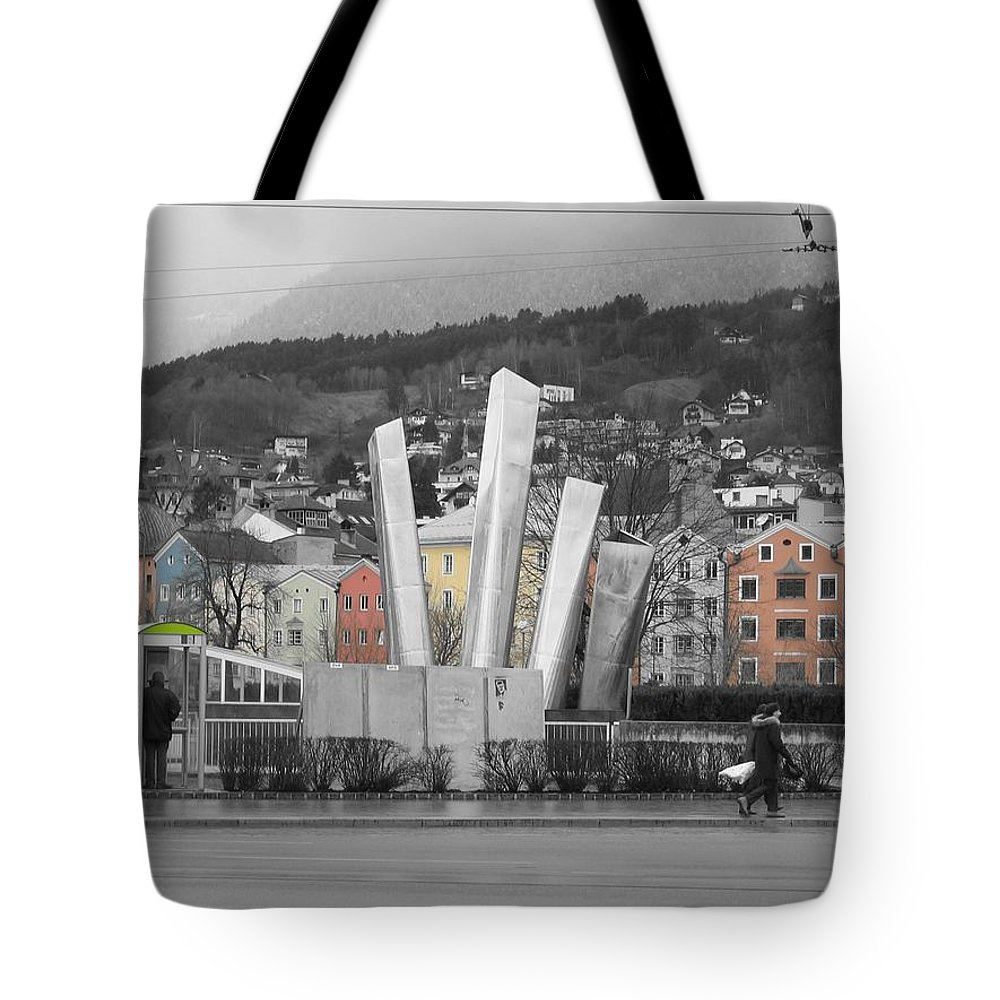 Abstract Tote Bag featuring the photograph Innsbruck Art by Dylan Punke
