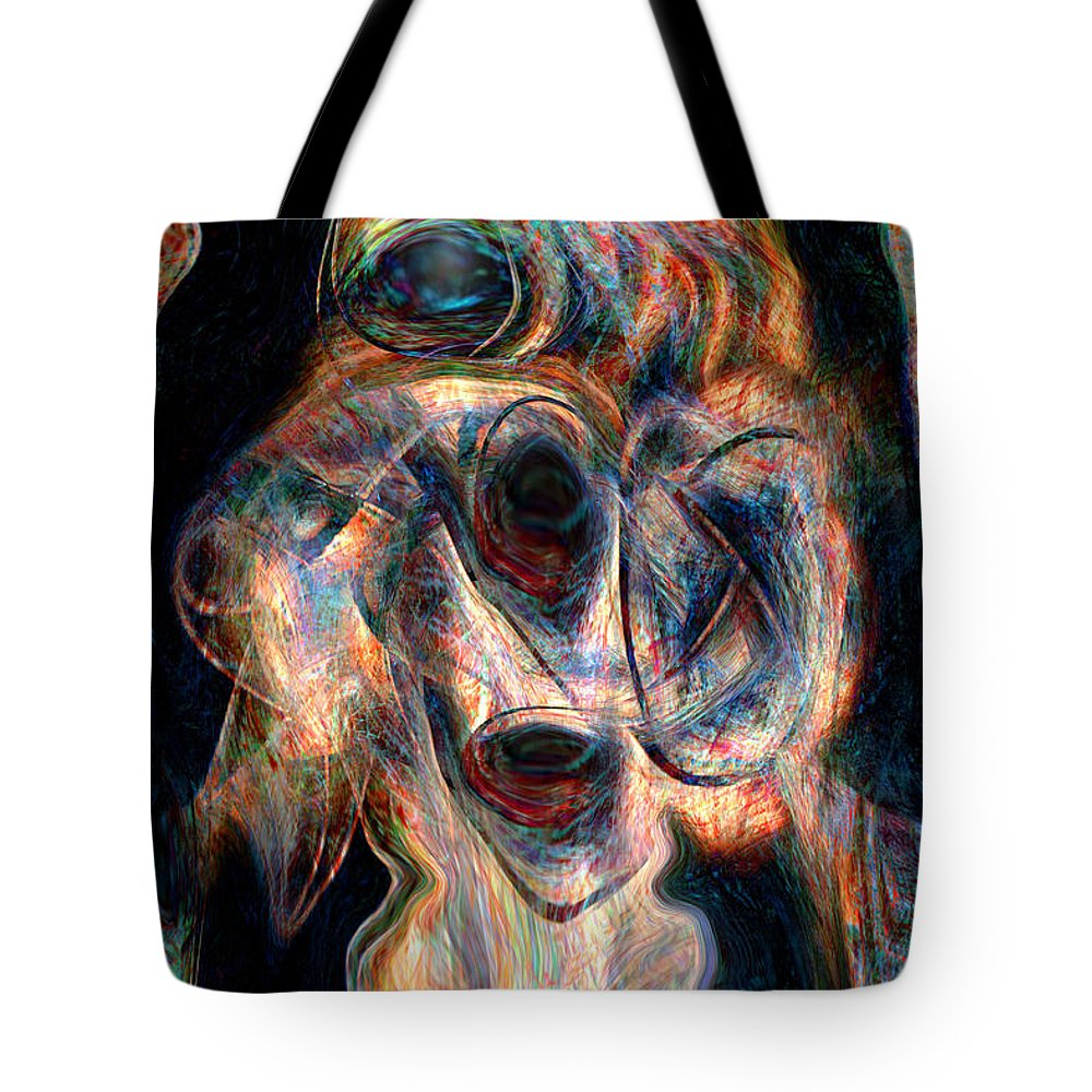 Insane Art Tote Bag featuring the digital art Insane by Linda Sannuti