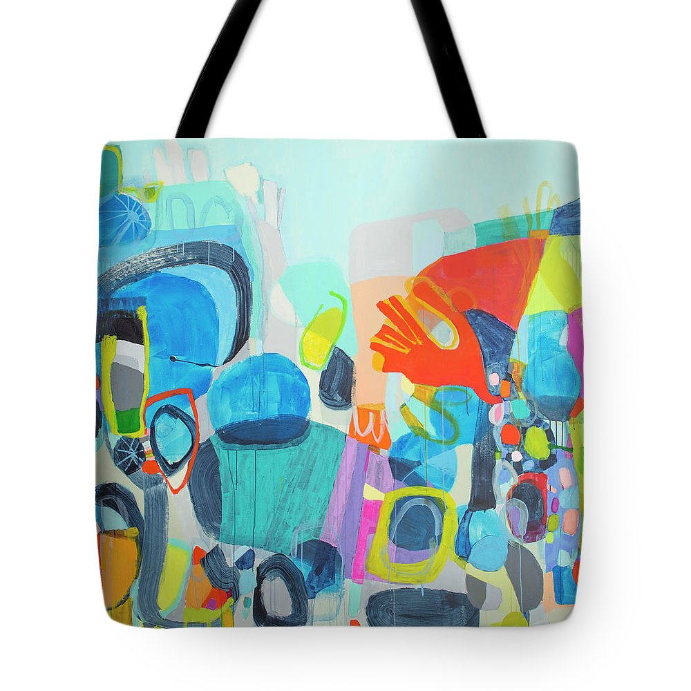 Abstract Tote Bag featuring the painting Insatiable by Claire Desjardins