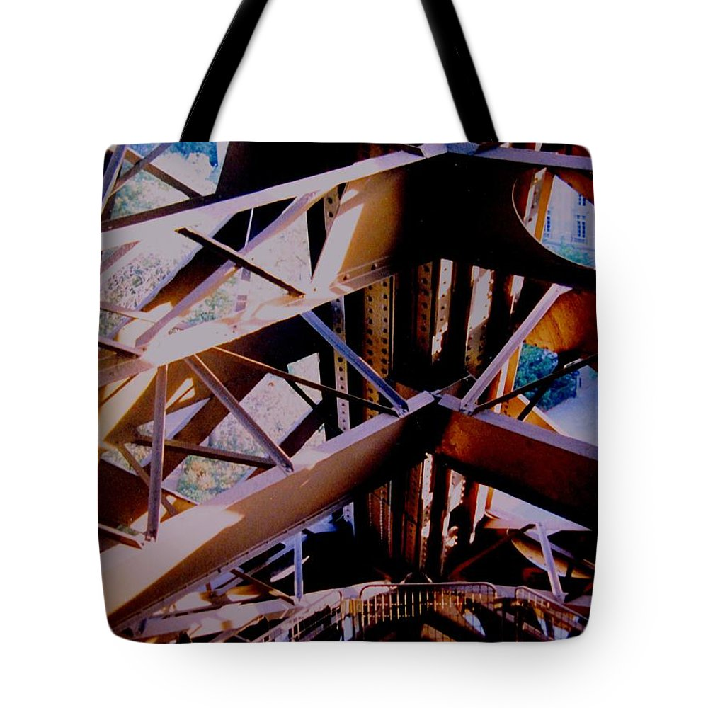 Eiffel Tote Bag featuring the photograph Inside Eiffel by Ian MacDonald