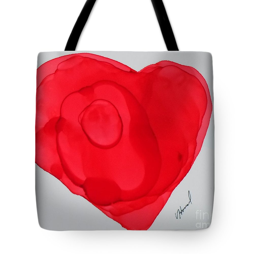 Heart Tote Bag featuring the painting Inside My Heart 2 by Vicki Housel