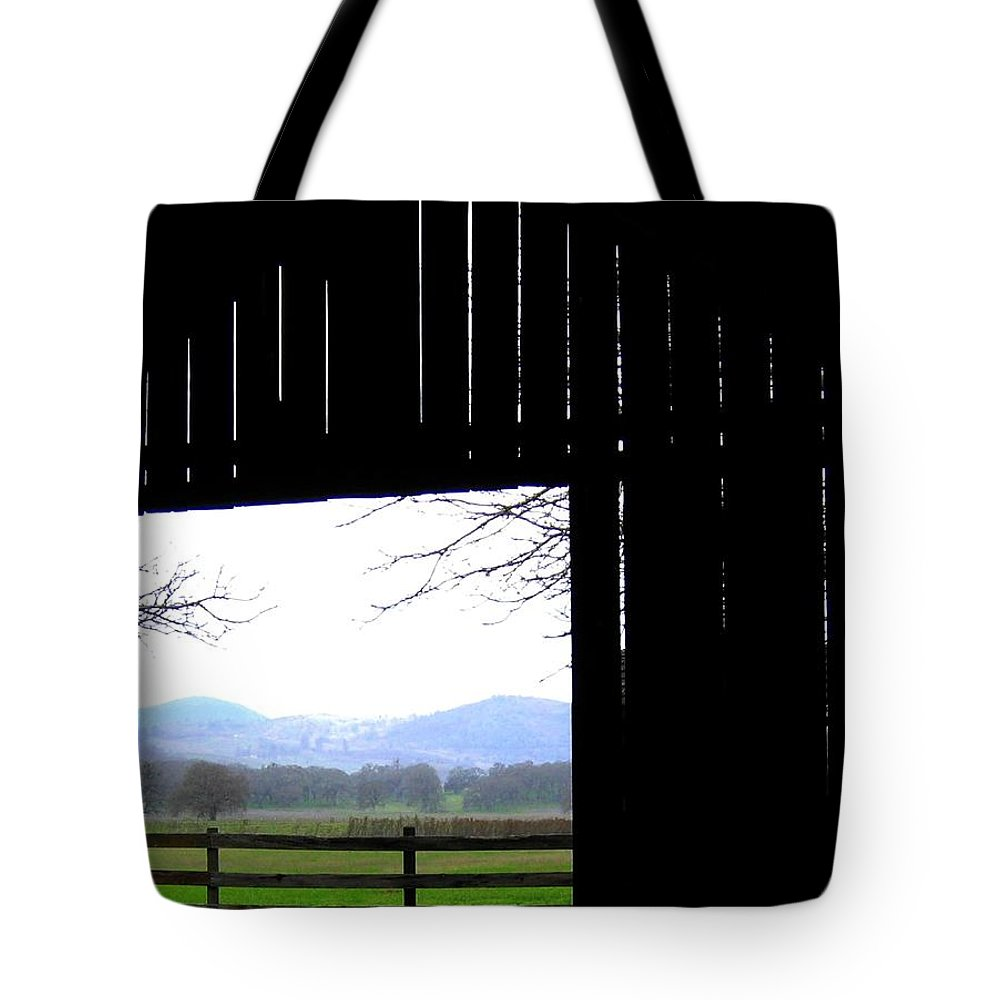 Barn Tote Bag featuring the photograph Inside Out by Will Borden