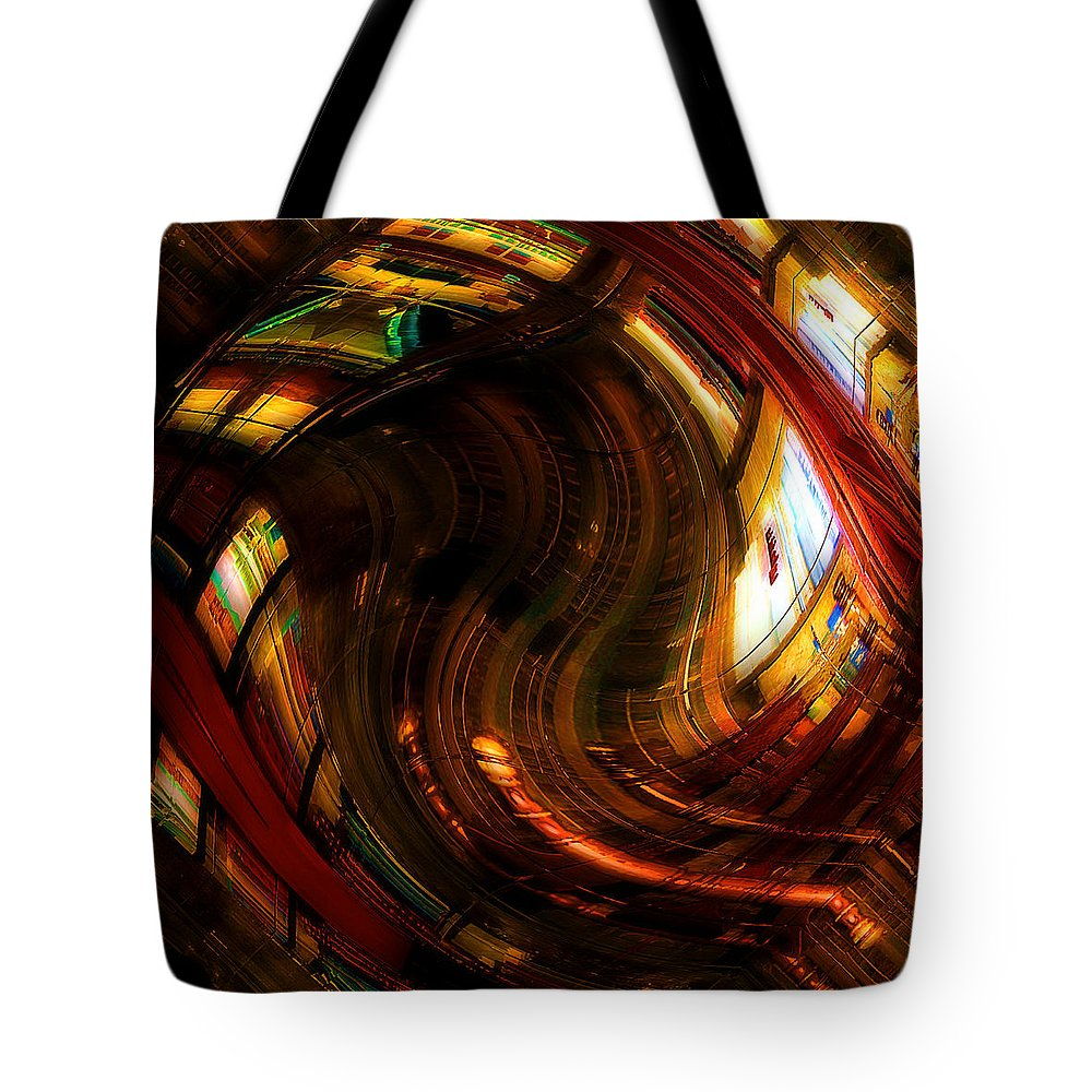 Books Tote Bag featuring the digital art Inside The Magick Book Shop by RC DeWinter
