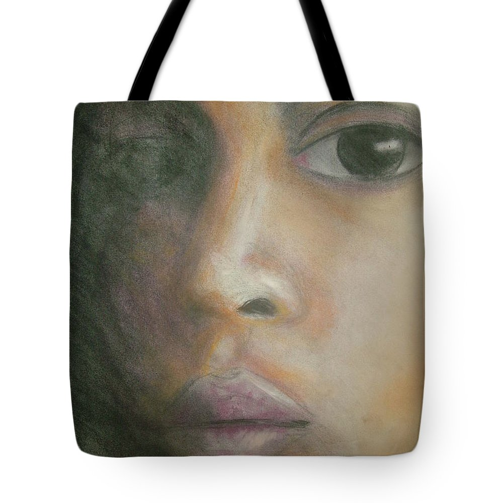 Tote Bag featuring the drawing Inside The Soul by Jan Gilmore