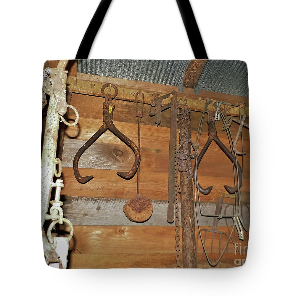 Tool Tote Bag featuring the photograph Inside The Tool Shed by D Hackett