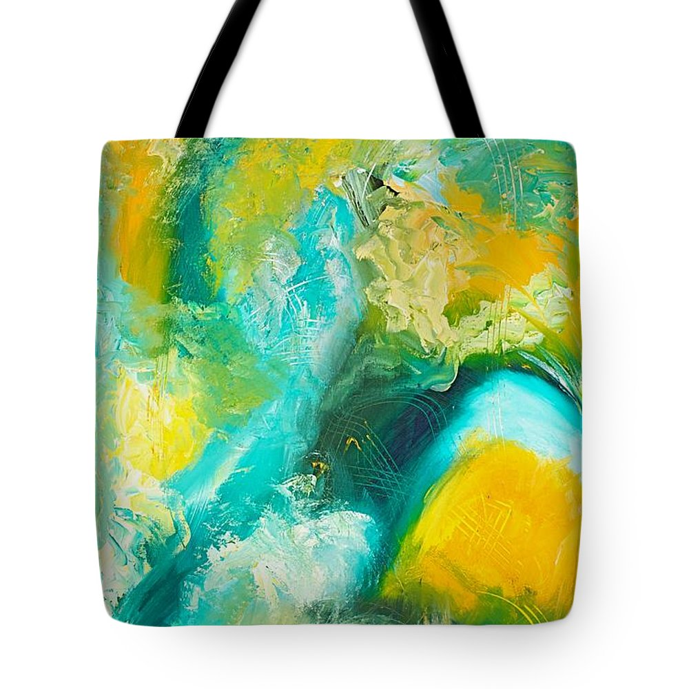 Inside A Wave Tote Bag featuring the painting Inside The Wave by Toni Daniel