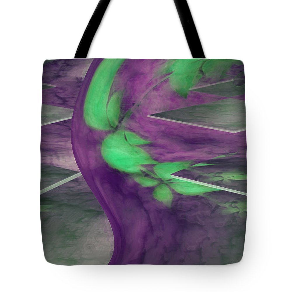 Abstracts Tote Bag featuring the digital art Insight by Linda Sannuti