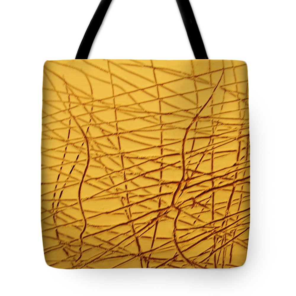 Jesus Tote Bag featuring the ceramic art Insights - Tile by Gloria Ssali