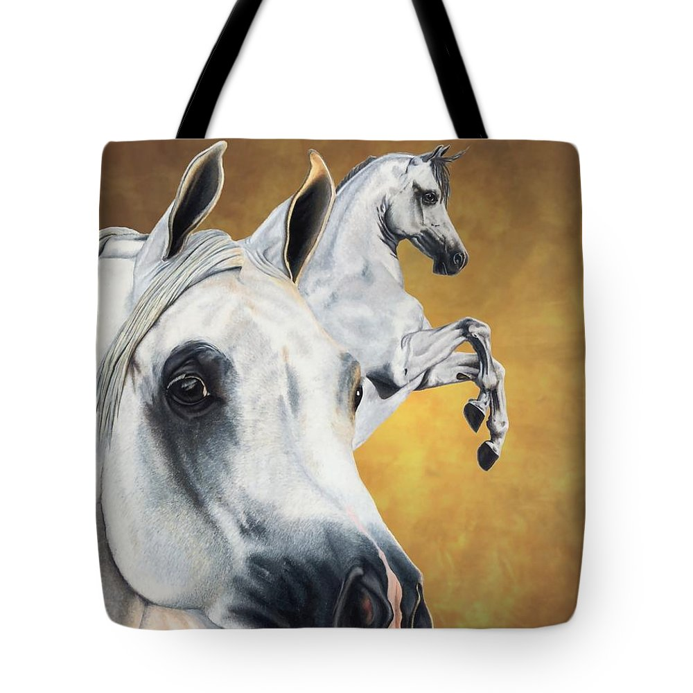 Horse Tote Bag featuring the drawing Inspiration by Kristen Wesch