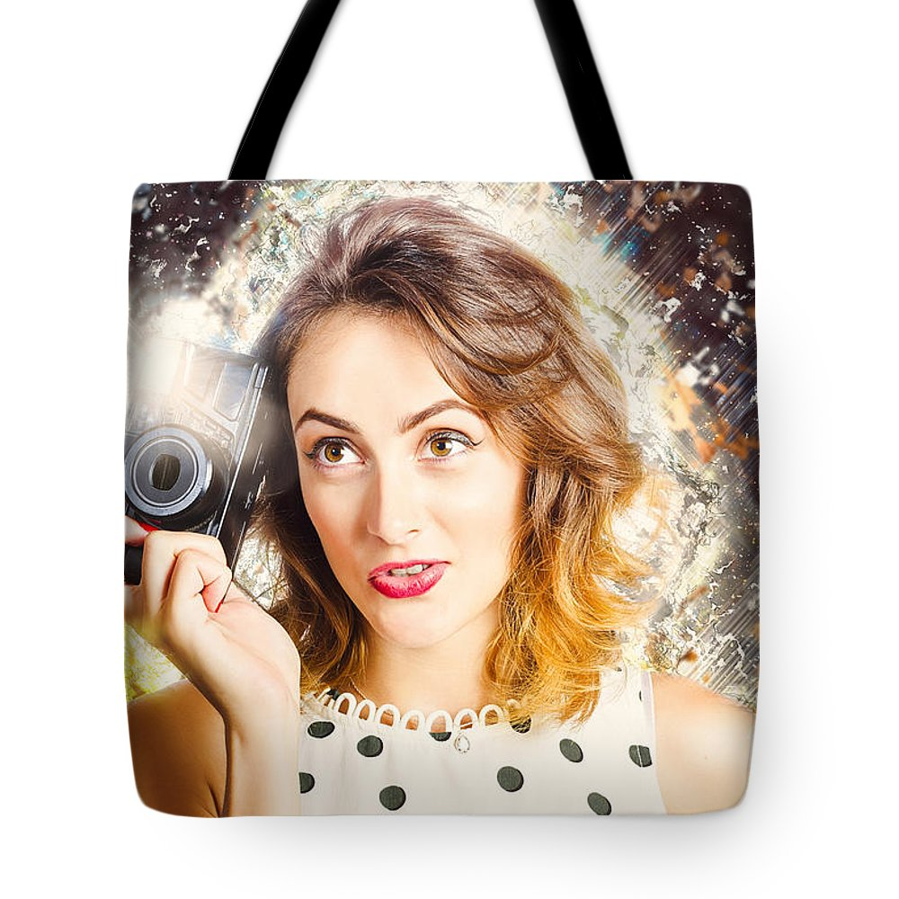 Photo Tote Bag featuring the photograph Inspiration Of A Creative Pinup Photographer by Jorgo Photography - Wall Art Gallery
