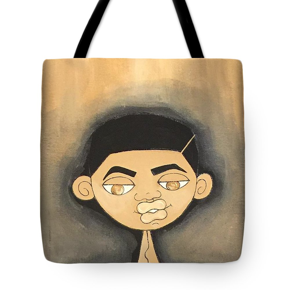 Black Art Tote Bag featuring the painting Inspirational by Deborah Carrie