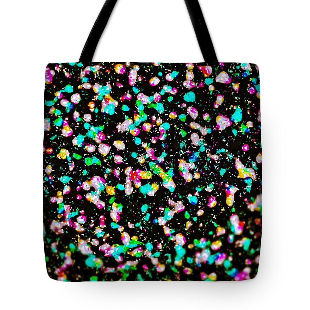 Abstract Tote Bag featuring the digital art Inspired By Pollock by Michael Knight
