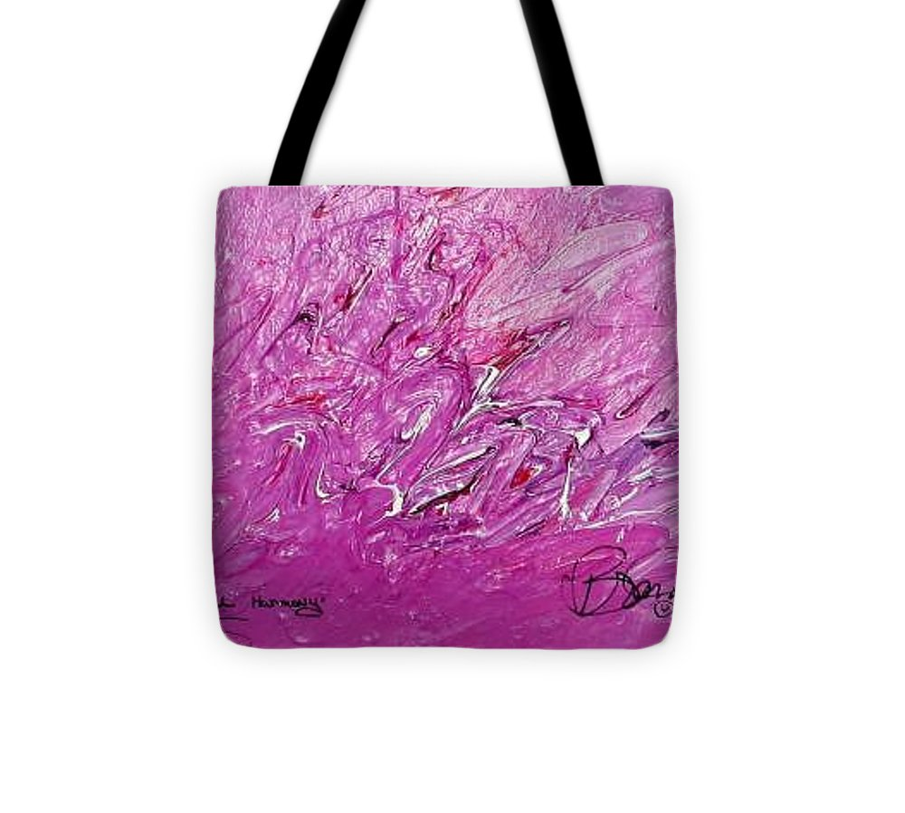 Abstract Tote Bag featuring the painting Intellectual Harmony by Brenda Basham Dothage