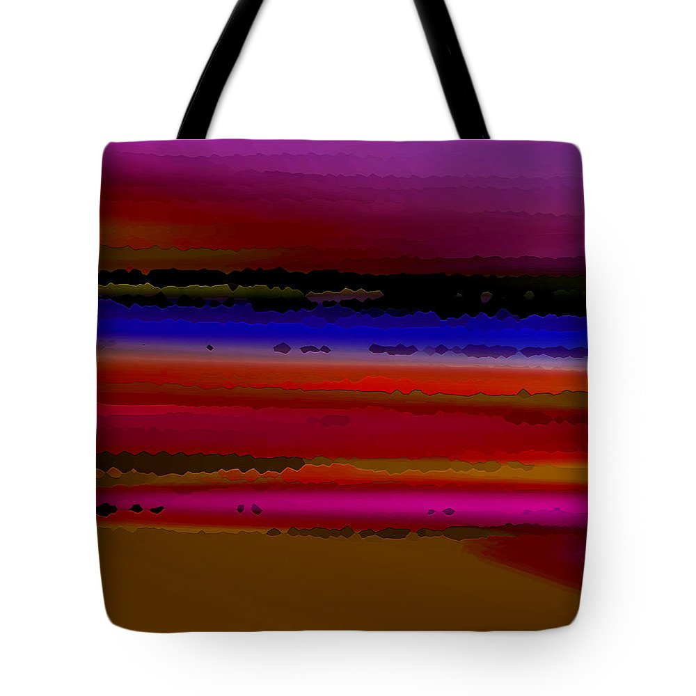 Abstract Tote Bag featuring the digital art Intensely Hued II by Ruth Palmer