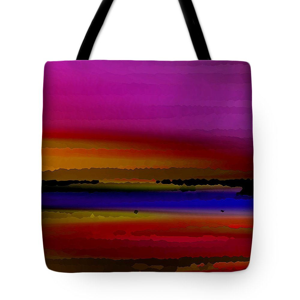 Abstract Tote Bag featuring the digital art Intensely Hued by Ruth Palmer