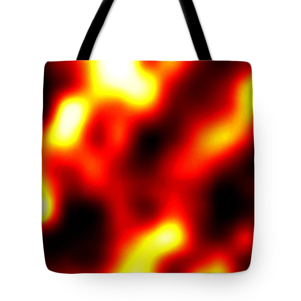 Abstract Tote Bag featuring the digital art Intensity by Will Borden