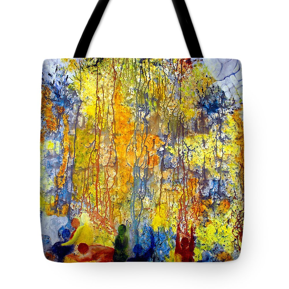Abstract Tote Bag featuring the painting Intercessory Prayers by Ruth Palmer