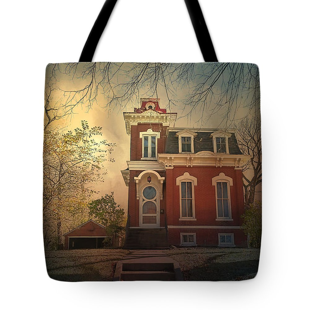 Theresa Campbell Tote Bag featuring the photograph Interesting Architecture by Theresa Campbell