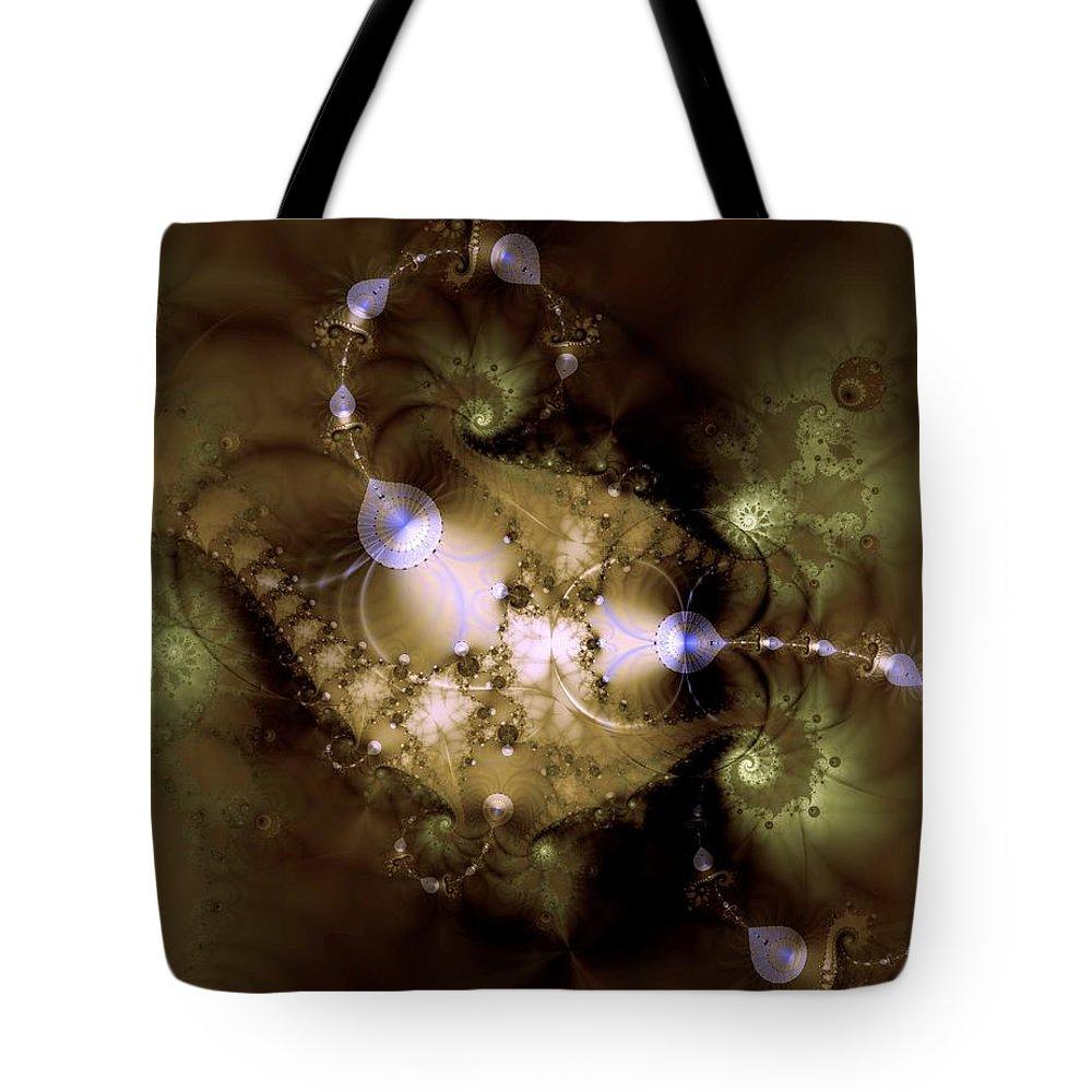 Dimension Tote Bag featuring the digital art Intergalactica by Casey Kotas