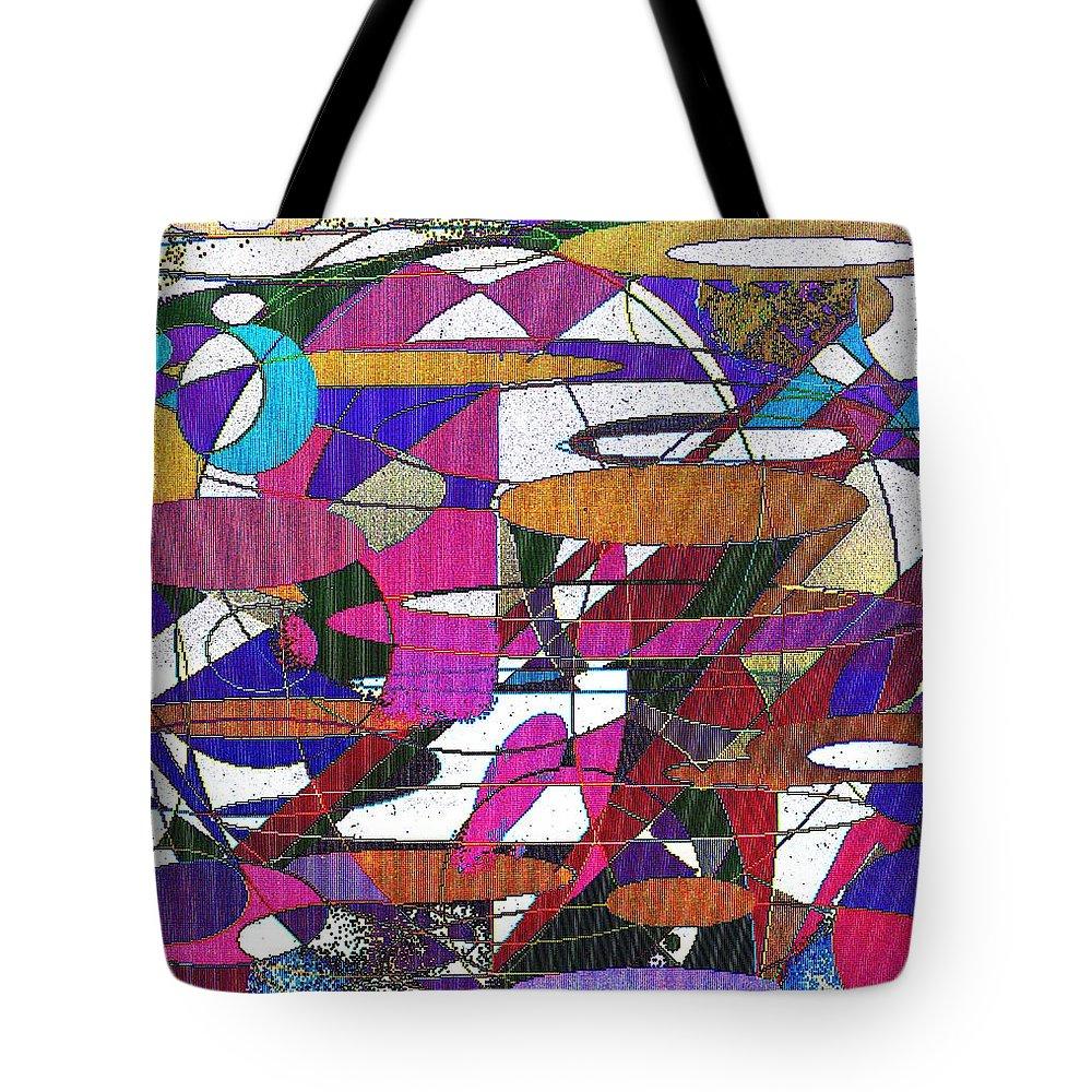 Abstract Tote Bag featuring the digital art Intergalatic by Ian MacDonald