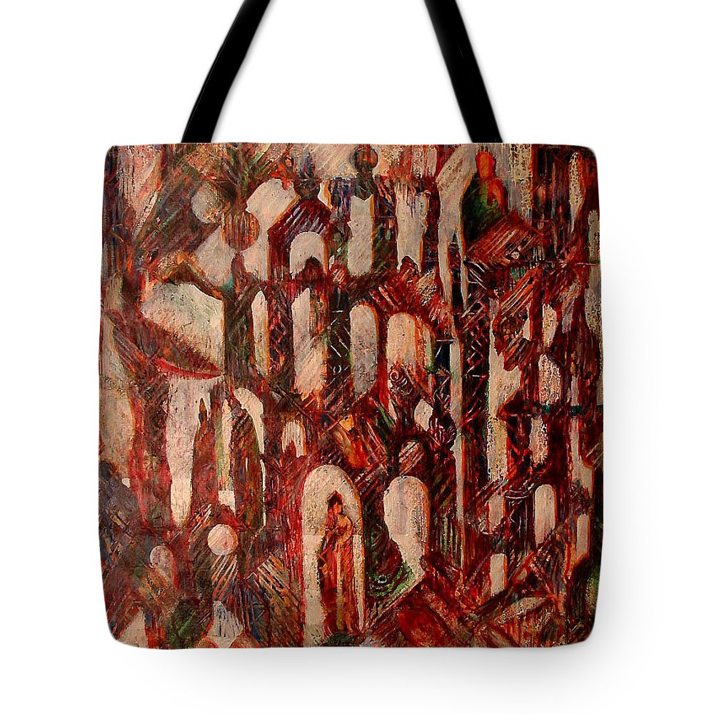 Tote Bag featuring the painting Interior by Robert Gravelin