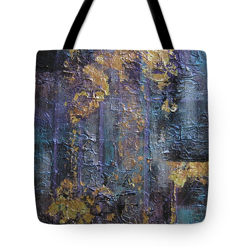 Abstract Tote Bag featuring the painting Interlace by Roberta Rotunda