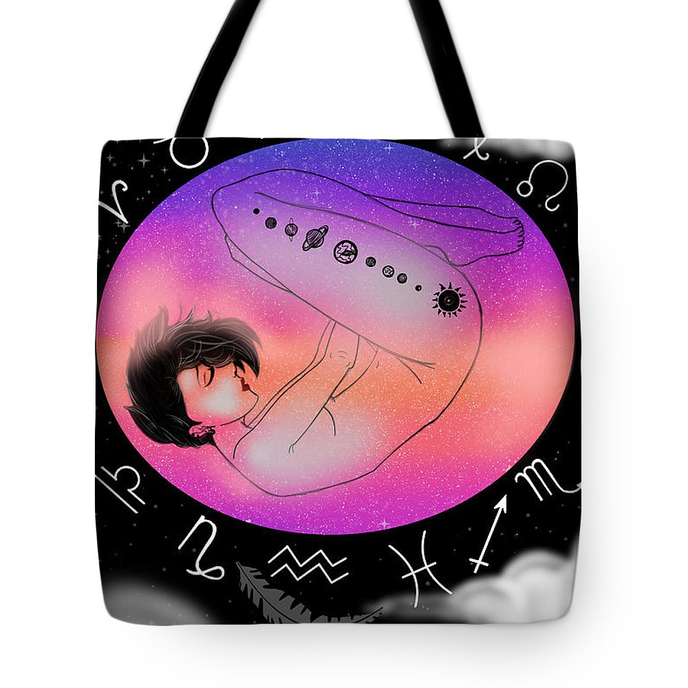 Horoscope Tote Bag featuring the digital art Internal by MiriBelle Arts