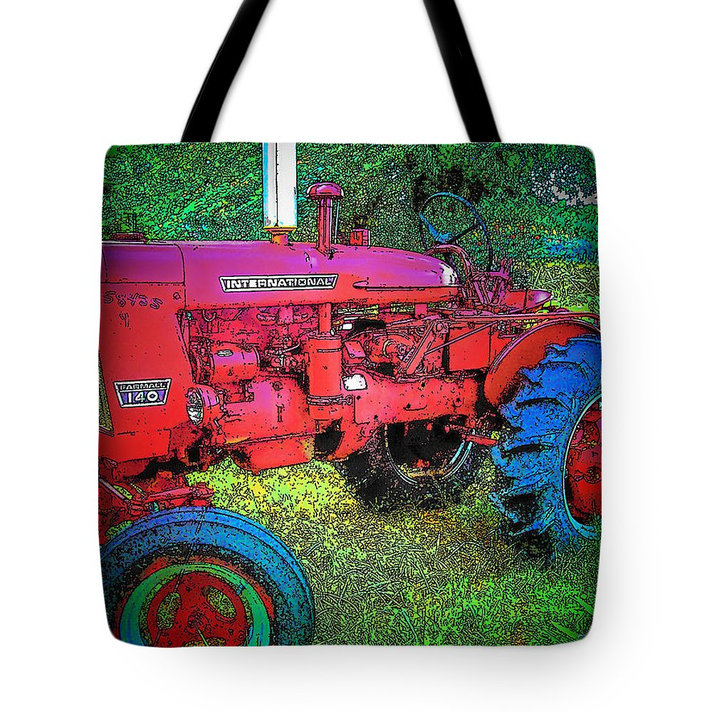 Tractor Tote Bag featuring the photograph International by Terry Anderson