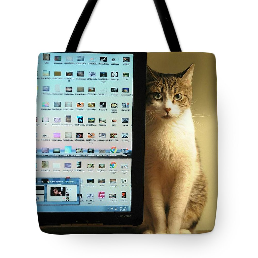Internet Security Tote Bag featuring the photograph Desktop Security by Diana Angstadt