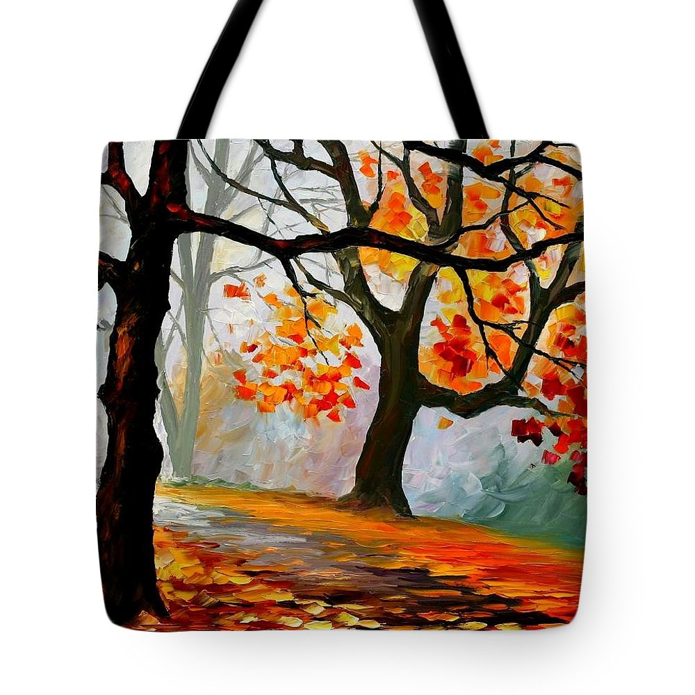 Landscape Tote Bag featuring the painting Interplacement by Leonid Afremov
