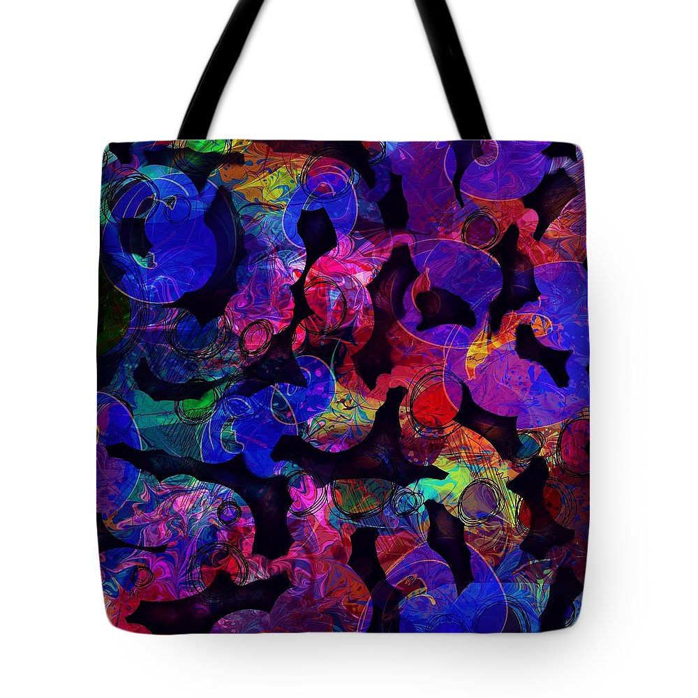 Abstract Tote Bag featuring the digital art Intestinal Hallucinations by William Russell Nowicki
