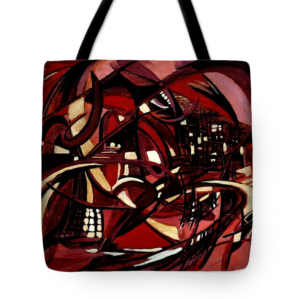 Intimate Still Life With Incidental Intensity Tote Bag featuring the painting Intimate Still Life With Incidental Intensity by Carmen Fine Art