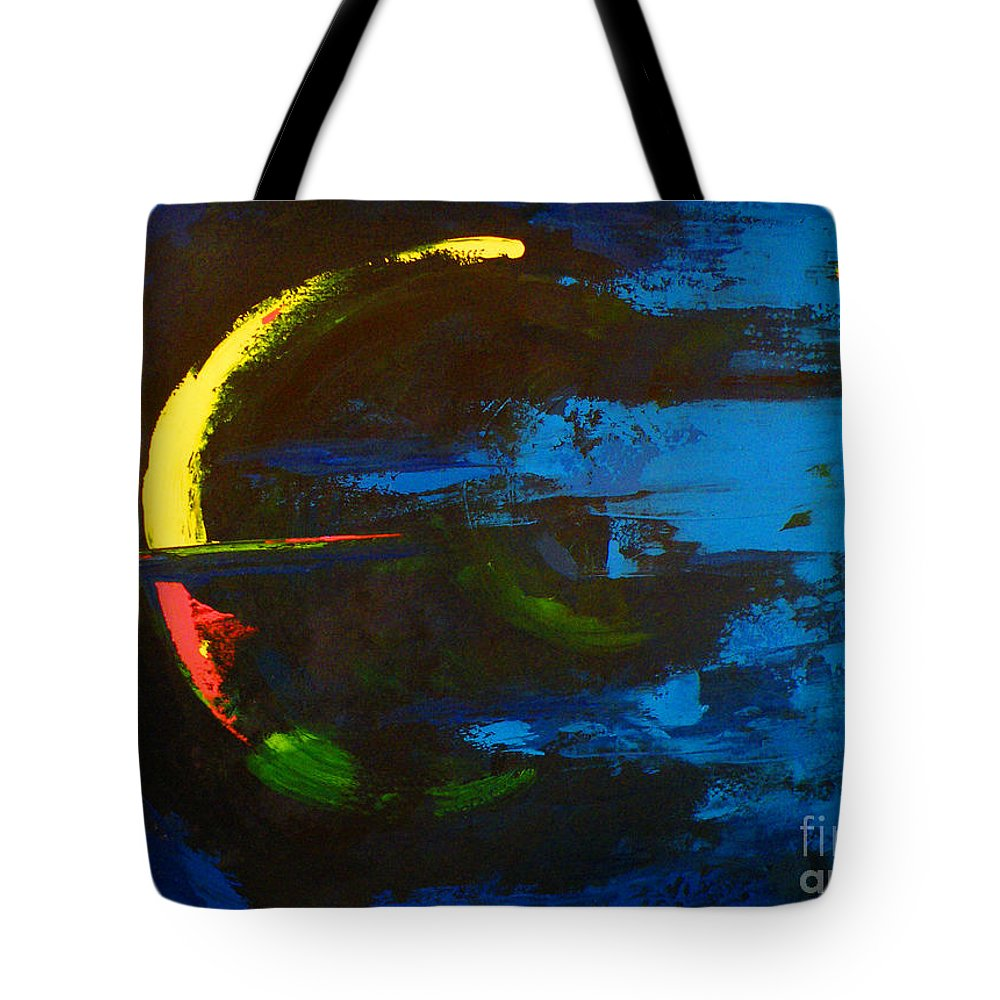 Red Tote Bag featuring the painting Into Awareness by Patricia Awapara