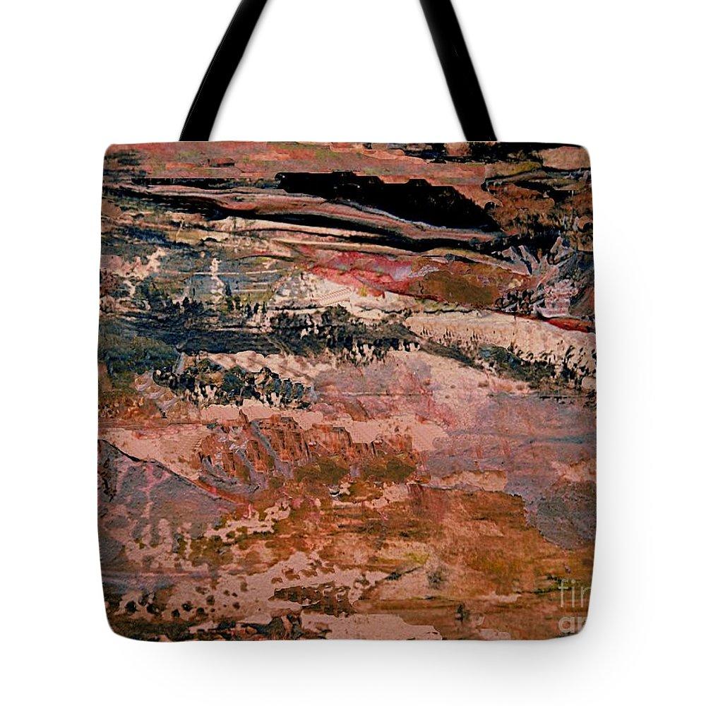 Digital Landscape Tote Bag featuring the digital art Into Fantasy Landscapes by Nancy Kane Chapman