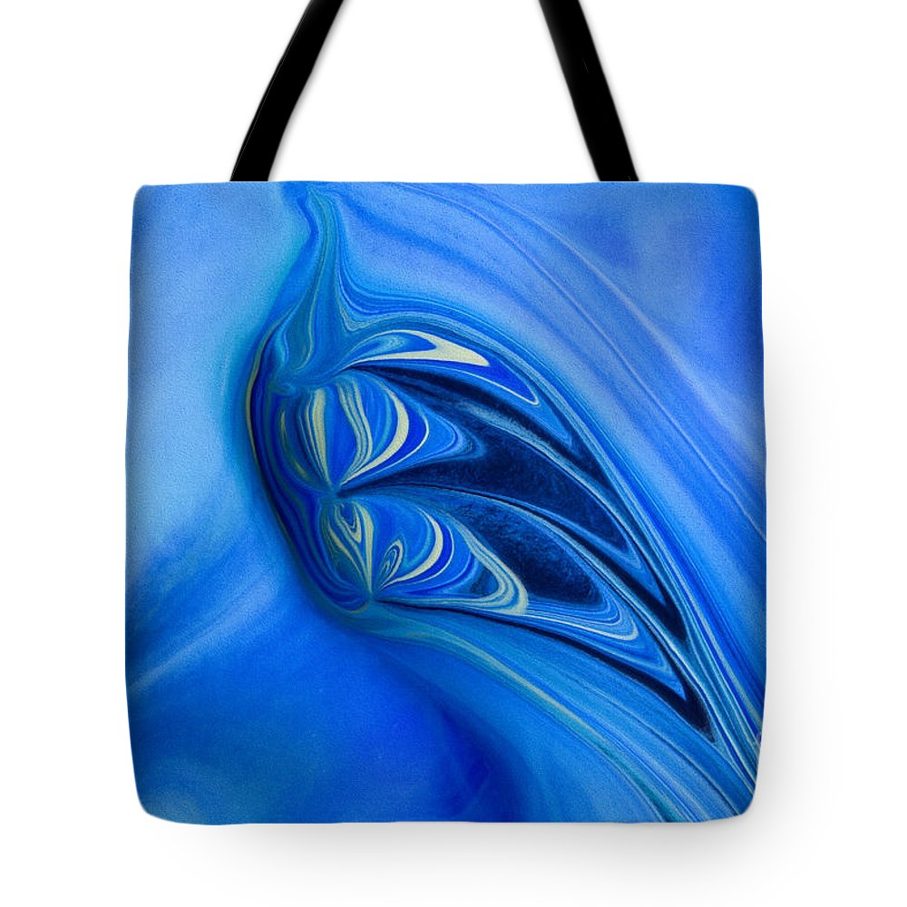 Abstract Tote Bag featuring the painting Into The Abyss by Patti Schulze