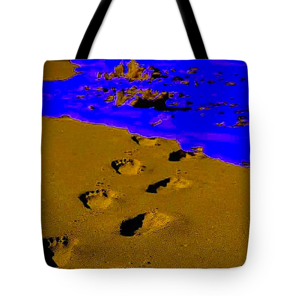 Sand Tote Bag featuring the photograph Into The Blue by Vicki Lynn Sodora